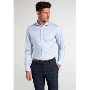 Рубашка мужская голубая с тиснением