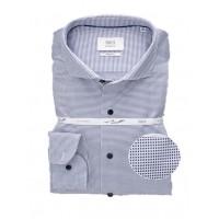 Сорочка бело-синяя микродизайн