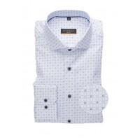 Сорочка бело-голубая микродизайн