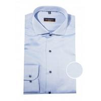 Сорочка синяя микродизайн