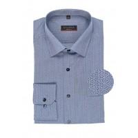 Рубашка мужская синяя микродизайн