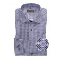 Сорочка фиолетовая микродизайн
