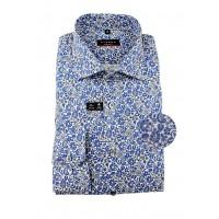 Рубашка синяя принт