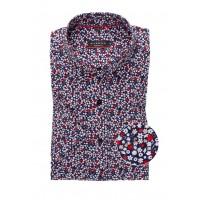 Сорочка красно-синяя микродизайн
