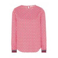 Блуза бело-красная принт