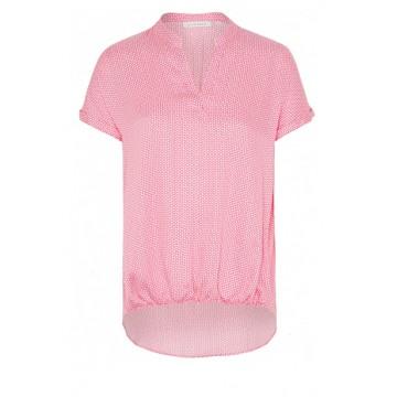 Блуза розовая микродизайн