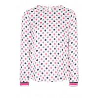 Блуза белая принт