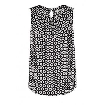 Блуза черная принт