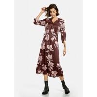Платье темно-коричневое midi