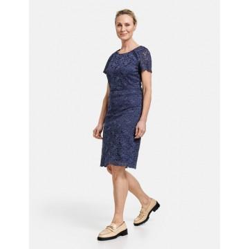 Платье Casual синий midi