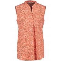 Блуза оранжевая принт