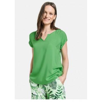 Блуза зеленая Casual вискоза
