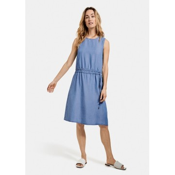 Платье  синий DENIM midi Casual без рукавов