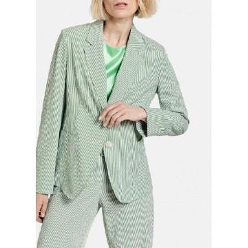 Пиджак костюмный зеленый полоса