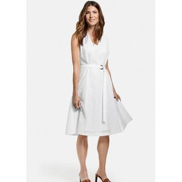 Платье белое, б/р, midi Casual лен