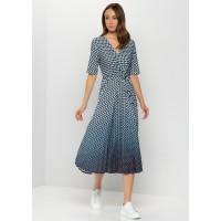 Платье синий принт