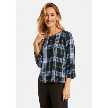 Casual chemise navy blue