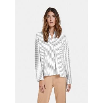Блуза белая полоса Casual