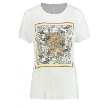 Блуза белый принт