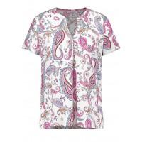Блуза к/р бело-розовый принт
