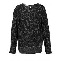 Блуза черная микродизайн