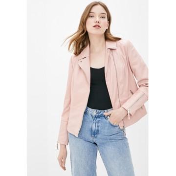 Куртка кожа светло-розовая