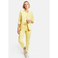 Пиджак костюмный желтый