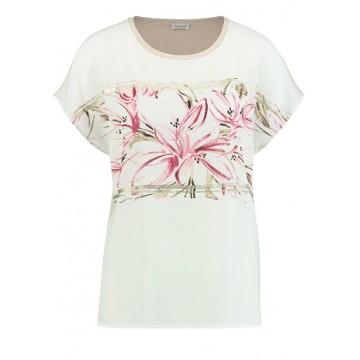 Белая футболка c принтом