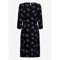 Платье тёмно-синее принт
