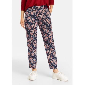 Trousers dark blue print