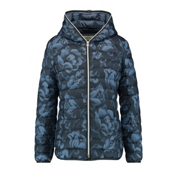 Jacket dark blue prin