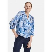 Блуза сине-белый принт