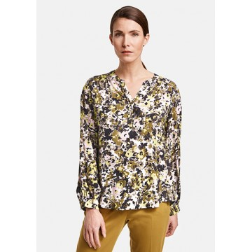 Блуза олива принт
