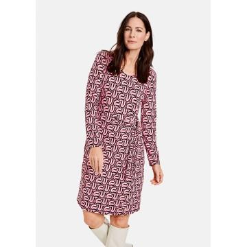 Платье розовое принт