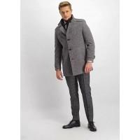 Пальто серое микродизайн