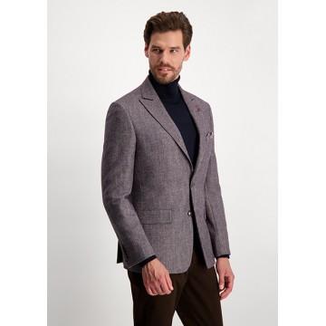 Пиджак коричневый микродизайн