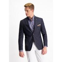 Пиджак тёмно-синий микродизайн