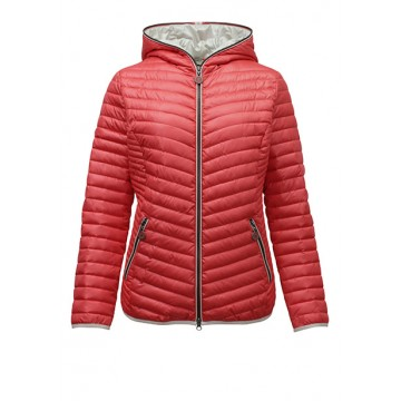 Jacket coral with a hood