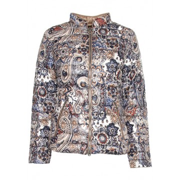 Jacket print / beige reversible