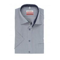 Сорочка серо-синяя полоса