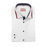 Сорочка белая с красным воротом