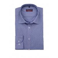 Сорочка т. синяя микродизайн