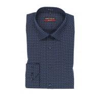 Рубашка т. синяя микродизайн