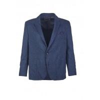 Пиджак темно-синий клетка трикотаж