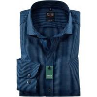 Сорочка синяя Kent фактура