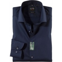 Сорочка OLYMP темно-синяя фактура