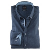Сорочка т. синий микро-дизайн