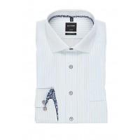 Сорочка бело-голубая полоса