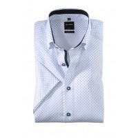 Сорочка белый микродизайн