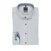 Сорочка бело-коричневый микродизайн
